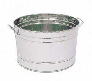 Achla C-70 Stainless Steel Tub Round Outdoor Cooler