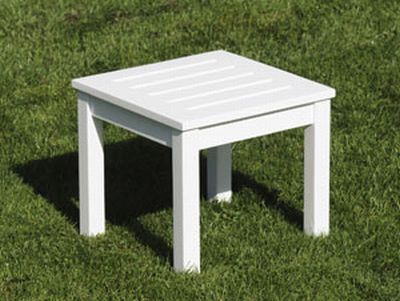 Achla OFT-15 Side Table - White Polyurethane