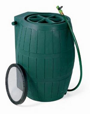 Achla RB-01 Rain Barrel - Green Polyethylene
