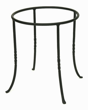 Achla FB-14 Ring Stand Patio Accent - Black Powdercoat