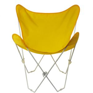 Algoma 405253 Butterfly Chair and Cover Combination with White Frame