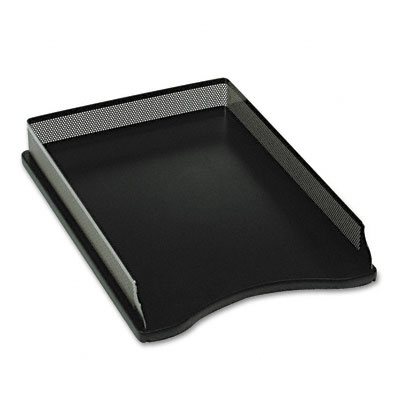 Rolodex E22615 Distinctions SelfStacking Desk Tray Metal Black