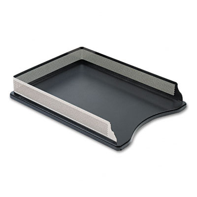 Rolodex E23565 Distinctions SelfStacking Letter Desk Tray Metal Black