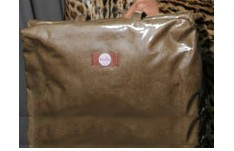 BabyDish Brown Leather - faux BabyBeReady Diaper Survival Kit