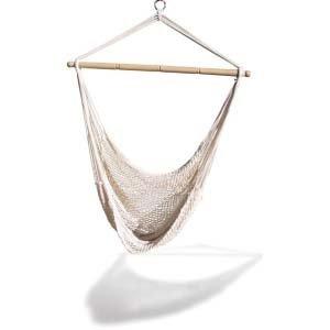 KingsPond   Hammaka Hammocks White Hanging Net Chair
