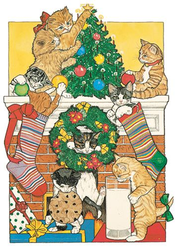 Pipsqueak Productions C415 Cat Holiday Boxed Cards