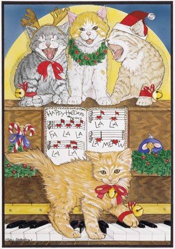 Pipsqueak Productions C469 Cat Holiday Boxed Cards
