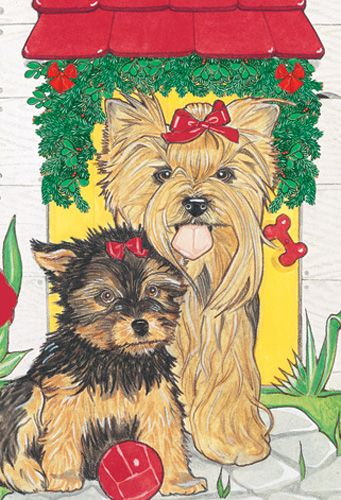 Pipsqueak Productions C483 Yorkshire Terriers Holiday Boxed Cards