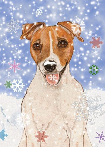 Pipsqueak Productions C568 Jack Russell Holiday Boxed Cards