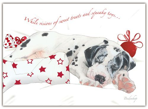 Pipsqueak Productions C569 Great Dane Holiday Boxed Cards