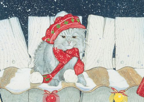 Pipsqueak Productions C944 Cat Holiday Boxed Cards