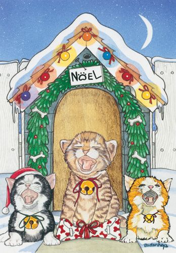 Pipsqueak Productions C962 Cat Holiday Boxed Cards
