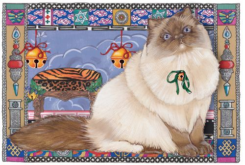 Pipsqueak Productions C989 Cat Holiday Boxed Cards