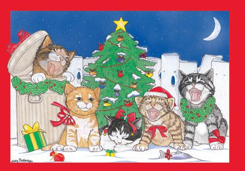 Pipsqueak Productions C990 Cat Holiday Boxed Cards