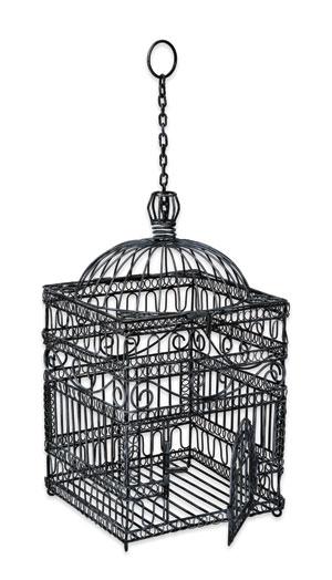 Achla BC-04 Victorian Bird Cage - Steel Gray Powdercoat