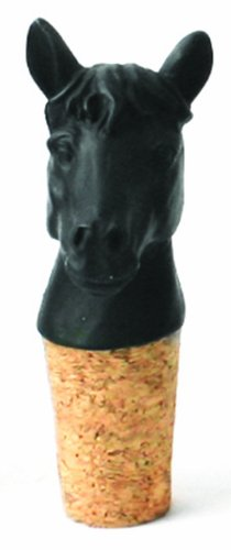 Imm Living Inc. KAS070- BLK-HOR Best Year Horse Wine Stopper- 4 pc