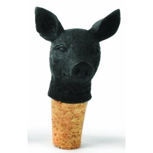 Imm Living Inc. KAS070- BLK-PIG Best Year Pig Wine Stopper- 4 pc