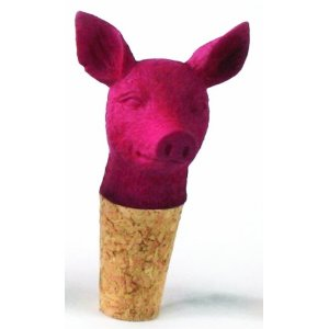 Imm Living Inc. KAS070- PLM-PIG Best Year Pig Wine Stopper- 4 pc
