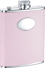 Visol VF1123 Daydream Pink Leather Stainless Steel 6oz Hip Flask