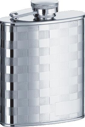 Visol VF1155 Mate Checker Design Stainless Steel 8oz Hip Flask