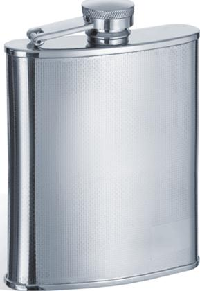 Visol VF1161 Pixel Stainless Steel 8oz Hip Flask
