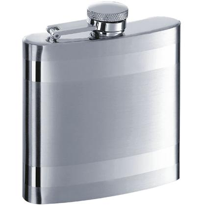 Visol VF1162 Band Two-Tone Stainless Steel 6oz Hip Flask