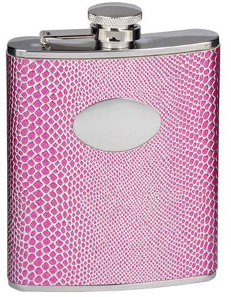 Visol VF1193 Viper Purple Snakeskin Design Stainless Steel 6oz Hip Flask