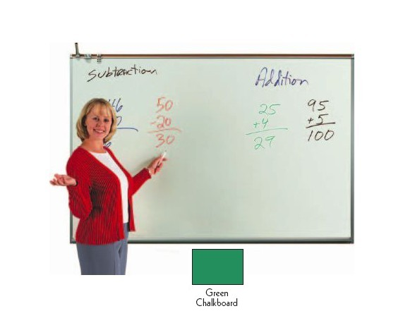 Aarco Products 120A-23CG Porcelain Enamel On Steel Chalkboard - Green