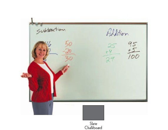 Aarco Products 120A-23CS Porcelain Enamel On Steel Chalkboard - Slate