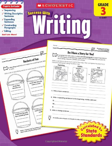 Scholastic 978-0-545-20077-6 Scholastic Success with Writing - Grade 3