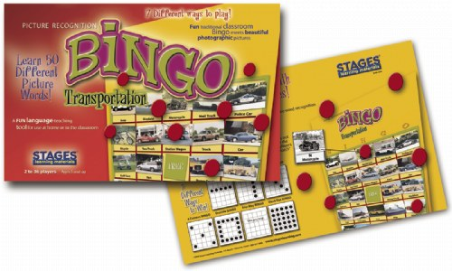 Stages Learning Materials SLM204 Bingo- Transportation