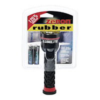Lumilite 2422 Zenon Rubber 2AA High Power Xenon Synthetic Rubber Flashlight Battery Included Pack of 3