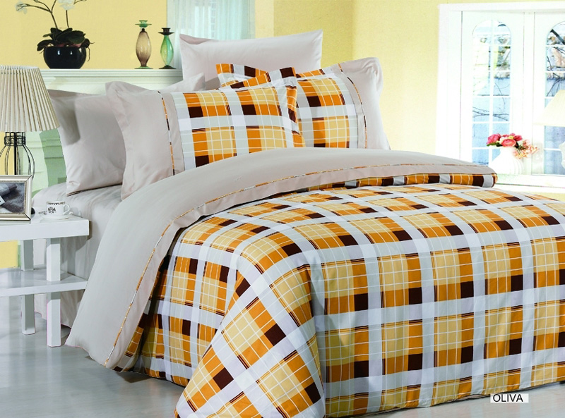 AR178Q Arya FullQueen 6 Pieces Duvet Cover Bedding Set Oliva