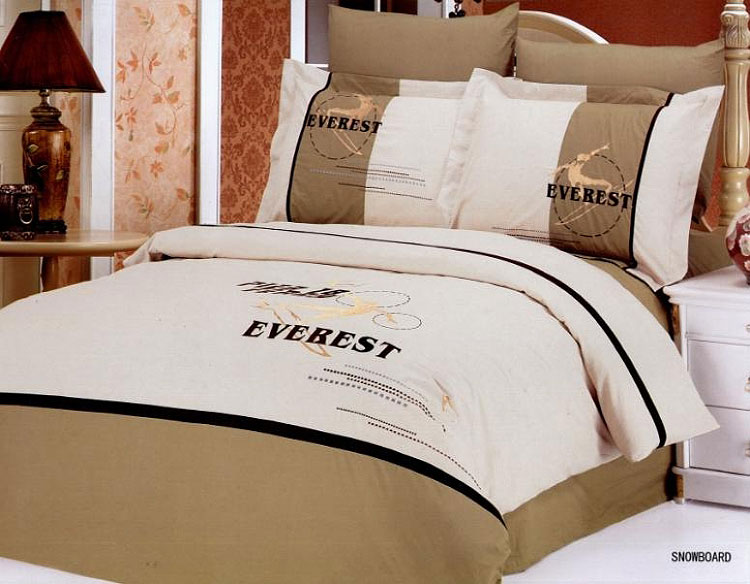LE133Q Le Vele FullQueen 6 Pieces Duvet Cover Bedding Set Snowboard