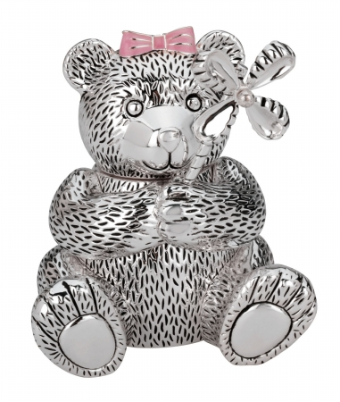 Reed  Barton 625 Girl Bear with Pinwheel Bank