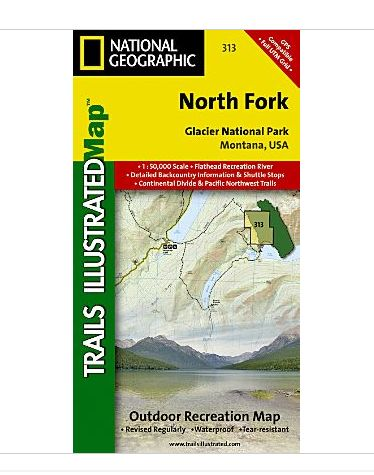 National Geographic Maps TI00000313 North Fork-Glacier National Park NAGGR171