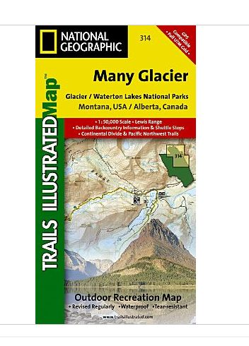 National Geographic Maps TI00000314 Many Glacier-Glacier National Park NAGGR172