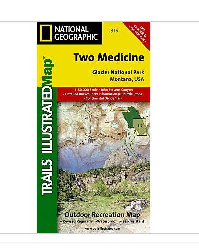 National Geographic Maps TI00000315 Two Medicine-Glacier National Park NAGGR173