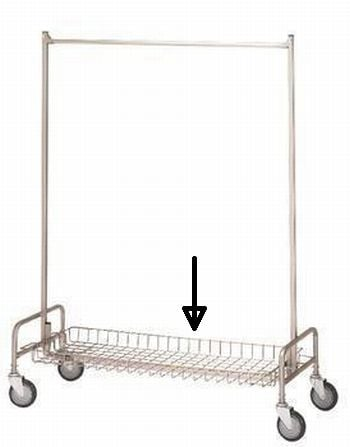 R & B Wire 781 Basket Shelf for 703 Garment Rack