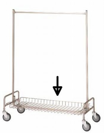 R & B Wire 782 Basket Shelf for 704 Garment Rack