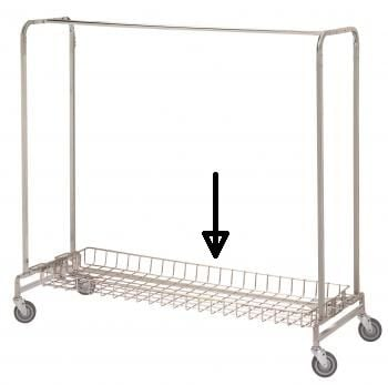 R & B Wire 783 Basket Shelf for 715 & 725 Garment Racks