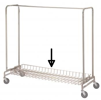 R & B Wire 784 Basket Shelf for 721 & 722 Garment Racks