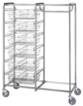 R & B Wire 1014 Six Basket-Garment Hanger Resident Item Cart
