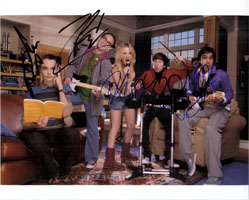 Powers Collectibles 14464 Signed Big Bang Theory The 8x10 By Jim Parsons Johnny Galecki Kaley Cuoco Simon Helberg and Kunal Nayyar Photo