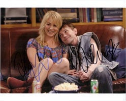 Powers Collectibles 15429 Signed Big Bang Theory The Kaley Cuoco DJ Qualls 8x10 By Kaley Cuoco and DJ Qualls Photo
