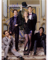 Powers Collectibles 16683 Signed Big Bang Theory The 8x10 By Jim Parsons Johnnyh Galecki Kaley Cuoco Simon Helberg and Kunal Nayyar Photo
