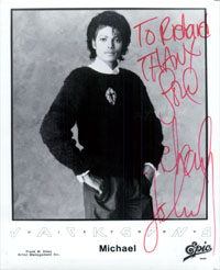 Powers Collectibles 15765 Signed Jackson Michael 8x10 BW P Early Signature Photo