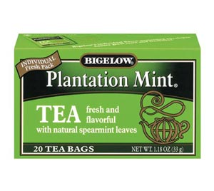 Bigelow 28235 Plantation Mint Tea - 6x20 Bags