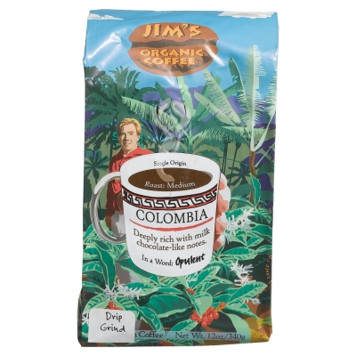 Jims Organic Coffee 211250 Colombian Organic Coffee Bean