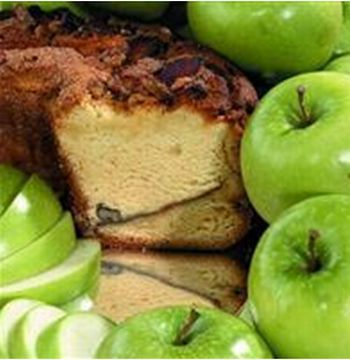My Grandma APLGC16N Large- 10 in.- 3.1 lbs Presliced Granny Smith Apple Coffee Cake, No Nuts